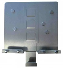 Panel na klíče C nerez (250x285x80)
